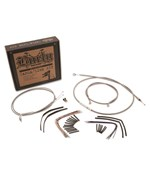 Braided Stainless Steel Cable Kits for Softails