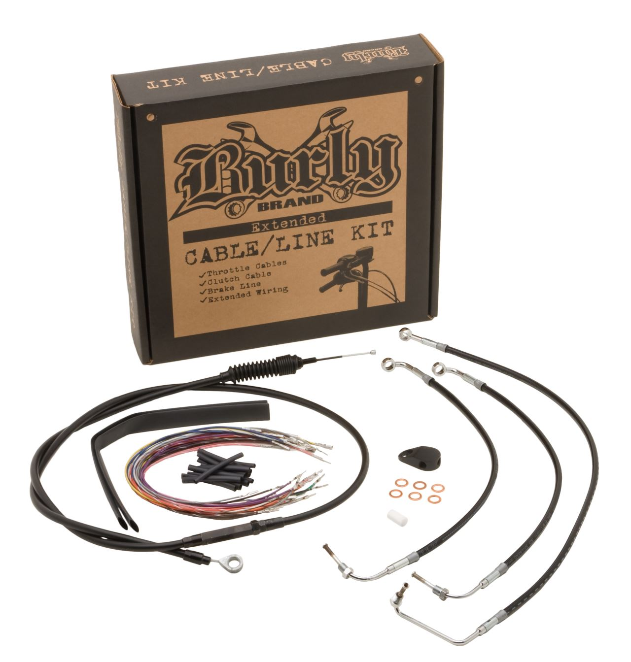 Black Cable Kits For Baggers | CABLE KITS | Burly Brand