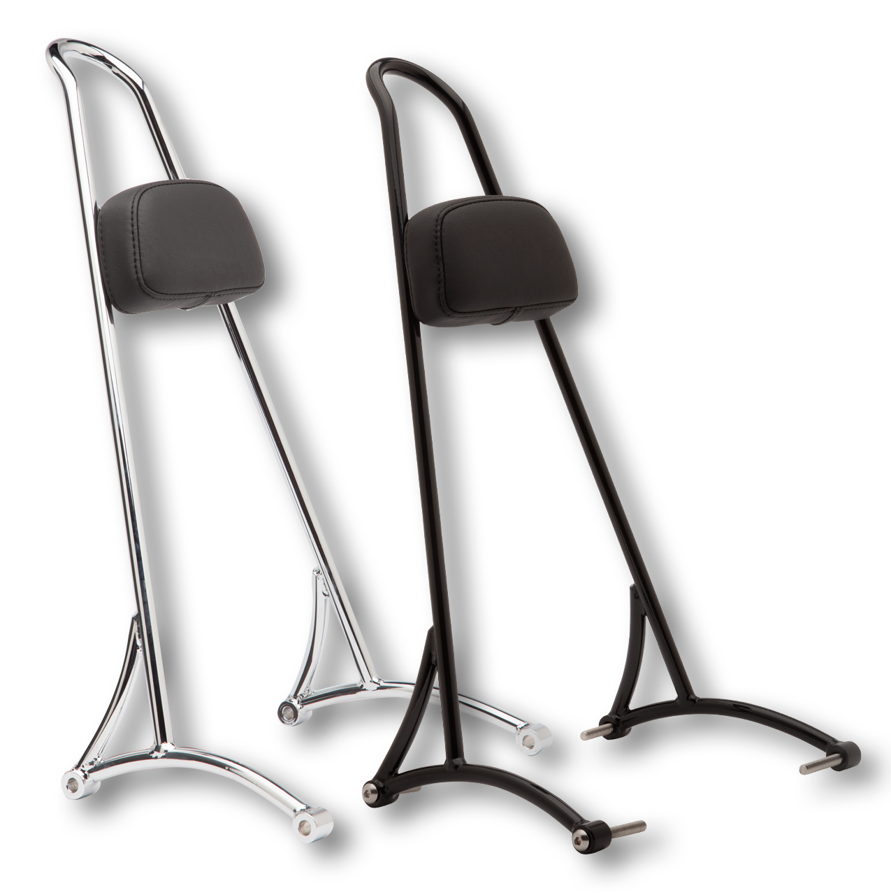 burly brand 20 tall chrome burly sissy bar w pad 04 16 xl. Black Bedroom Furniture Sets. Home Design Ideas